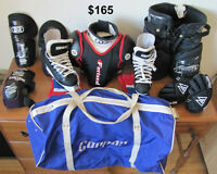 children's hockey equipment/equipement de hockey pour enfant