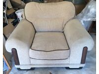 Large Cream Armchair- COLLECTION ONLY £25