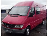 LEFT HAND DRIVE MERCEDES SPRINTER 312D KA 7 seater 2000 extra long wheel base diesel manual