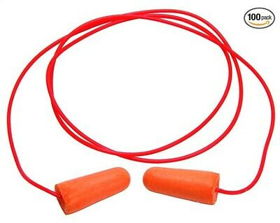 Legendforce Orange Foam Ear Plugs With Cord 100 Box 2499618 Tapered