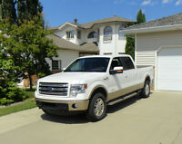 2014 Ford F-150 Supercrew LWB 4WD King Ranch White Pickup Truck