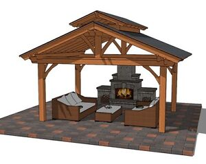 Beautiful Cedar Pavilion,Gazebo,Pergola Kits-Easy to Assemble