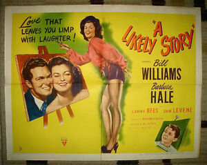 ORIGINAL 1946 RKO PIN UP CHEESECAKE ARTWORK MOVIE THEATRE POSTER