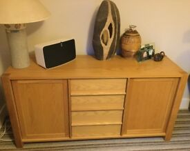 Heavy modern oak sideboard