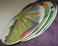 4 huge linda montgomery big provence painted plates