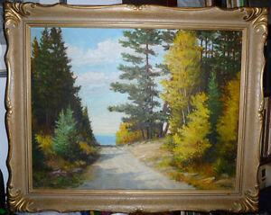 "Matthew F. Kousal ""Early Morning Road"" Original Oil Painting"