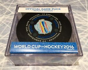 2016 World Cup of Hockey Official Semi-Final #1 Game Puck London Ontario image 1