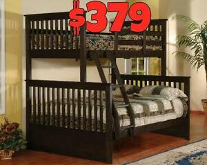 NEW YEAR SALE ON NOW SOLID WOOD BUNK BED STARTING FROM $279 LOWEST PRICE GUARANTEE