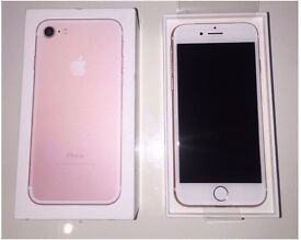 iphone 7 32gb rose gold, brand new boxed ,ee