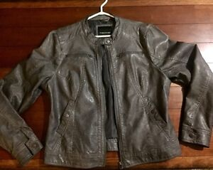 Maurice's grey faux leather jacket l/xl London Ontario image 1