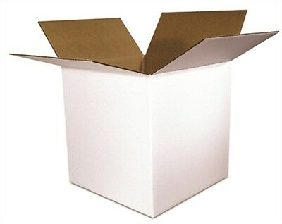 12x12x12 White Corrugated Packing Shipping Boxes Mailing Cartons 25 New