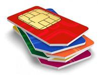 Unique sim card numbers