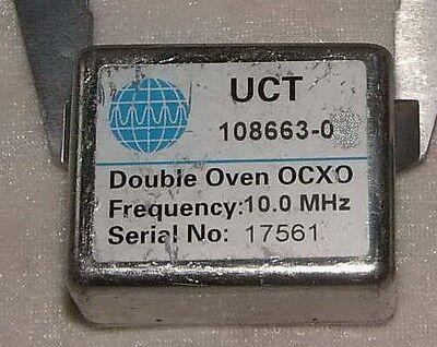 Uct 10 Mhz Double Oven Ocxo 108663-0 12v Sine Wave