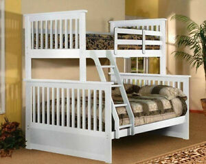 BRAND NEW REAL SOLID WOOD SINGLE OVER DOUBLE BUNK BED Kitchener / Waterloo Kitchener Area image 2