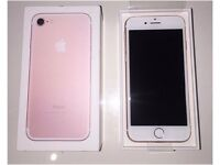 iphone 7 32gb rose gold, brand new boxed, just receive upgrade,ee, perfect