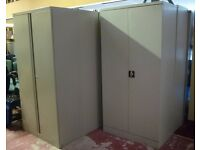 TALL OFFICE WORKSHOP METAL STORAGE TAMBOUR FILING CABINET CUPBOARD SHELVES