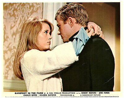 BAREFOOT IN THE PARK ORIGINAL LOBBY CARD ROBERT REDFORD JANE FONDA