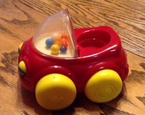 Vintage Fisher Price POPPER CAR 1990. AUTO POP