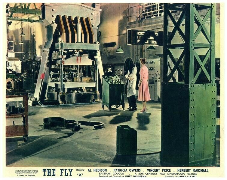 The Fly Original Lobby Card 1958 Horror Patricia Owens Vincent Price in lab rare