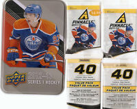 Two 11-12 Pinnacle Hockey Value Packs (40 cards/pack) & Free Tin