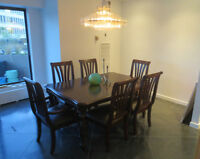$525 Dining table & six chairs