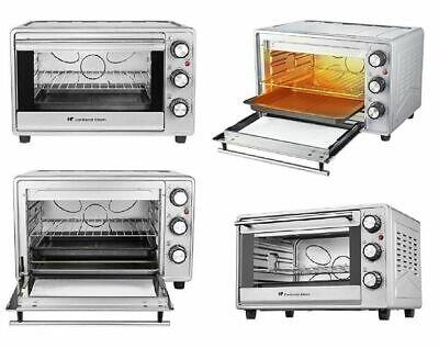 Mini Backofen 23Liter 1600W Silber Grill Pizzaofen Thermostat regelbar bis 230°C