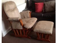 Nursing Glider Chair with matching Footstool excellent condition
