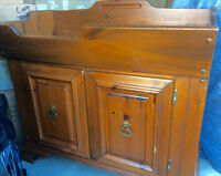 Solid Pine dry sink.