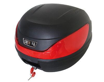 Helmfach Top Case Koffer Gepäck Fach 32 Liter für Roller u. Motorrad schwarz Fly Hi Bars