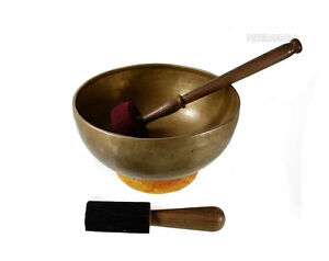 bol chantant tibetain 7 metaux fait main reiki 26 cm b. Black Bedroom Furniture Sets. Home Design Ideas