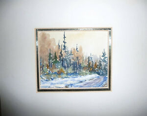 "Myrna Wilkinson ""Winter Shadows"" Original Small Watercolor Stratford Kitchener Area image 10"