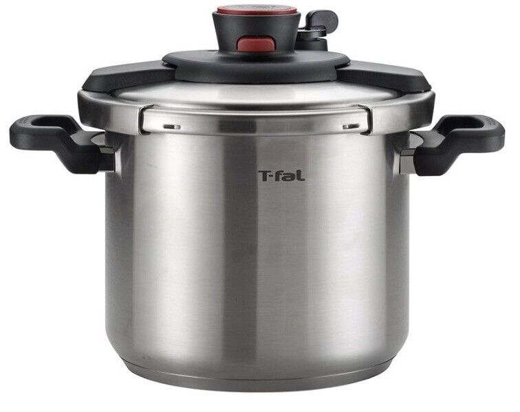 T-fal P45009 Clipso Stainless Steel 12-PSI Pressure Cooker Cookware, 8-Quart