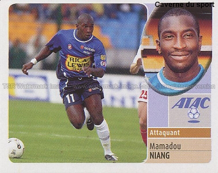 Mamadou niang # rookie senegal troyes estac vignette sticker  panini foot 2003