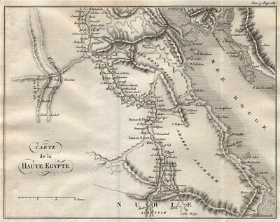 Upper Egypt. 'Haute Egypte'. Red Sea Sinai Sharm El Sheikh Hurghada 1818 map