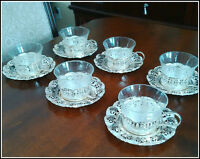 SILVER PLATED TEA & COFFEE CUP SET NEW NEVR USED! NEUF!!