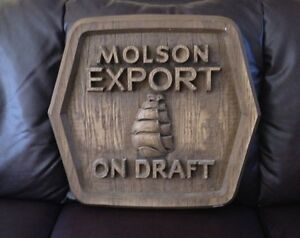 Vintage Draught Beer Sign - Molson Ex
