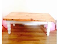 Shabby Chic Annie Sloan Painted White Coffee Table