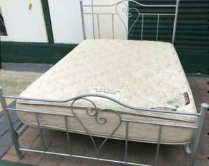 Excellent queen bed metal frame & double-sided Pillow Top mattres