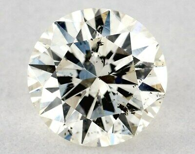 0.71 CT M COLOR ROUND GIA 100% EYE CLEAN LOOSE DIAMOND TAXFREE ENGAGEMENT Gift