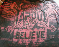 Tap-Out T Shirt MENS Size XL Black with Burgundy