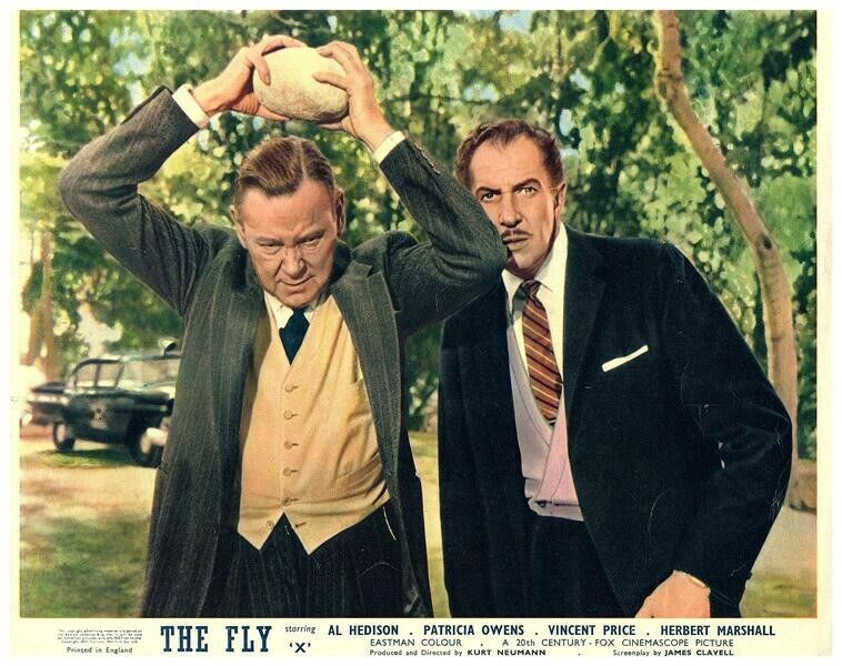 The Fly Original Lobby Card 1958 Horror Vincent Pricerare Classic