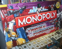 Trans-Formers Collectors Edition Monopoly (RARE) Sealed