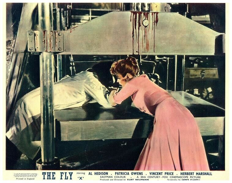 The Fly Original British Lobby Card 1958 Horror Patricia Owens Vincent Price