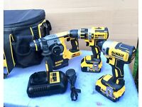 !!DeWalt Multi-Tool 3-Piece Brushless Various Drills Kit, 2 x 4amp Batteries & Charger!!