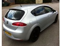 "XMAS 2008 SEAT LEON 1.9 TDI LOW MILEAGE 2 KEYS 1 OWNER FROM NEW 17""BLACK ALLOYS FR LOOKS PX SWAPS"