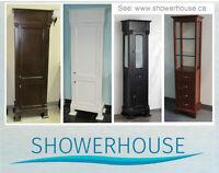 Bathroom Vanities-Linen closet- Linen Cabinet-solid wood