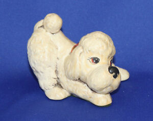 """TINKER ""   POODLE FIGURINE  Bunty is his name"