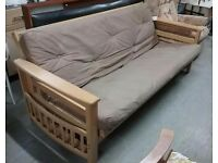 FURTHER REDUCTION!! Large Futon / Sofa Bed - Can Deliver For £19