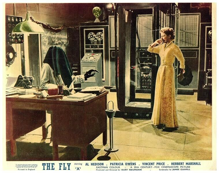 The Fly Original Lobby Card 1958 Horror Patricia Owens Vincent Price Rare