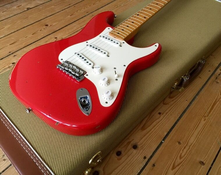 Fender Custom Shop 56 Relic Stratocaster Fiesta Red With All Certs And Case Candy
